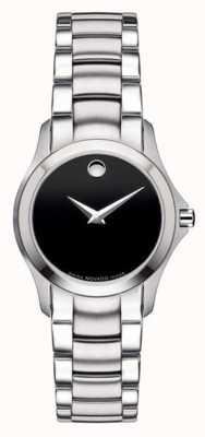 Movado | zegarek wojskowy ze stali damskiej | czarna tarcza | 0605870