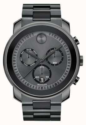 Movado | męski pogrubiony zegarek chronograf stal armatnia szara | 3600486