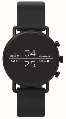 Skagen Czarny silikonowy połączony smartwatch SKT5100