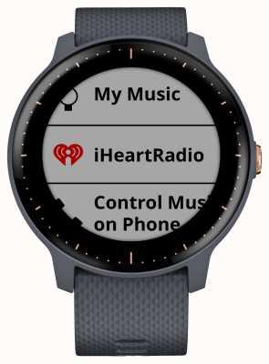 Garmin Vivoactive 3 music hr gps granitowy, niebieski, różany złoty zegarek 010-01985-32