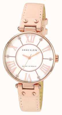 Anne Klein | zegarek sygnowany kobietą skóra naga 10-N9918RGLP
