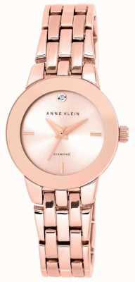 Anne Klein | zegarek damski agnes | bransoletka z różowego złota | AK-N1930RGRG