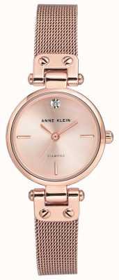 Anne Klein | damski zegarek na kabel | ton złota róża | AK-N3002RGRG