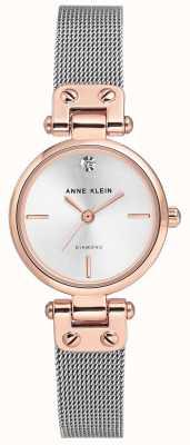 Anne Klein | damski zegarek na kabel | srebrny sygnał | AK/N3003SVRT