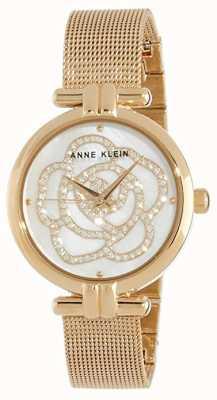 Anne Klein | damski zegarek kwiatowy złoty odcień | AK-N3102MPGB