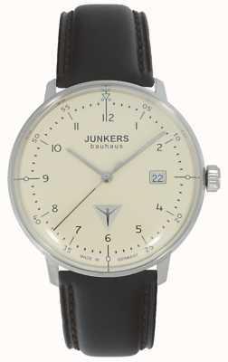 Junkers Zegarek z brązowym skórzanym paskiem Bauhaus 6046-5