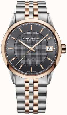 Raymond Weil   męski zegarek freelancer   stal nierdzewna i różowe złoto   2740-SP5-60021