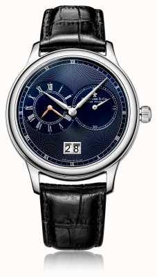 Dreyfuss Męski zegarek z czarnej skóry z chronografem kwarcowym DGS00120/05