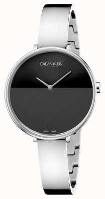 Calvin Klein | bransoleta ze stali nierdzewnej dla kobiet | czarna tarcza | K7A23141