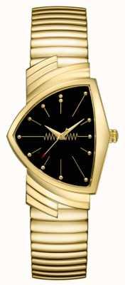 Hamilton | zegarek kwarcowy Ventura | czarna tarcza | elastyczna bransoletka | H24301131