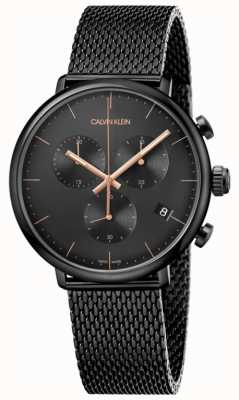 Calvin Klein | mężczyzna w południe czarny stal nierdzewna | chronograph | K8M27421