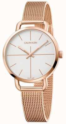 Calvin Klein | zegarek przedłużający dla kobiet | siatka ze stali nierdzewnej w kolorze różowego złota | K7B23626