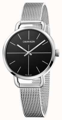 Calvin Klein | nawet oglądać | pasek ze stali nierdzewnej | czarna tarcza | K7B23121