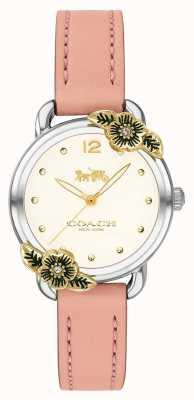 Coach | zegarek damski | różowa skóra i stal nierdzewna | 14503239