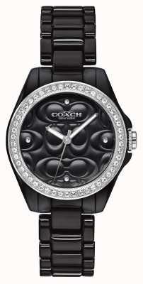 Coach | nowoczesny zegarek sportowy | czarna twarz | czarny pasek | 14503255