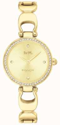 Coach | zegarek na park dla kobiet | złoty pasek złota twarz | 14503171
