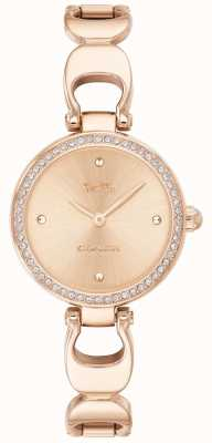 Coach | zegarek na park dla kobiet | pasek ze złota różanego twarz z różowego złota | 14503172