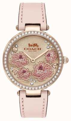 Coach | zegarek na park dla kobiet | różowy skórzany pasek | 14503285