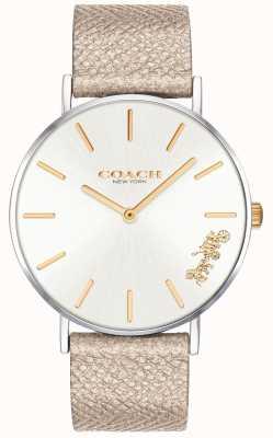 Coach | damski zegarek perry | pasek z kremem | 14503157