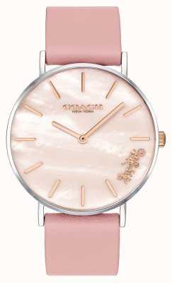 Coach | zegarek damski | różowy skórzany pasek | 14503244