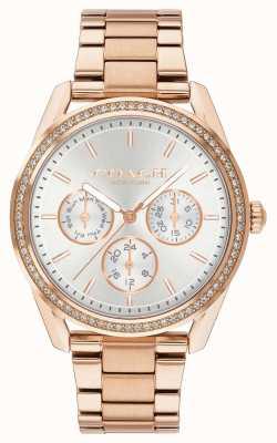 Coach | zegarek preston | chronograf różowe złoto stal nierdzewna | 14503267