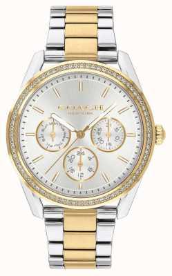Coach | zegarek preston | chronograf dwukolorowy srebrny i złoty | 14503268