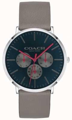Coach | zegarek męski varick | chronograf beżowy pasek czarna tarcza | 14602390