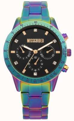 Missguided | zegarek damski | wielokolorowa stal nierdzewna | MG004UPM