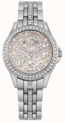 Missguided | damski zegarek ze stali nierdzewnej | srebrna kamienna tarcza | MG013SM