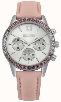 Missguided | zegarek damski | różowy skórzany pasek | MG015P