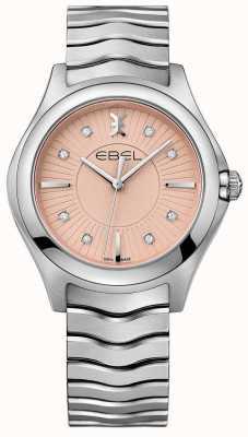 EBEL Fala ze stali nierdzewnej bransoleta z różową tarczą 1216303