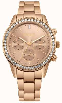 Missguided | damskie różowego złota ze stali nierdzewnej | róża wybierania | chronograf MG002RGM