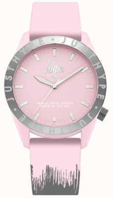 Hype | damski różowo-szary pasek silikonowy | różowa tarcza | HYL008PS