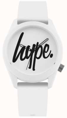 Hype | biały pasek silikonowy | biała i czarna tarcza | HYU001W