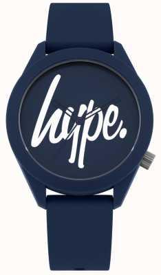 Hype | męski niebieski pasek silikonowy | niebieska i biała tarcza | HYG001U
