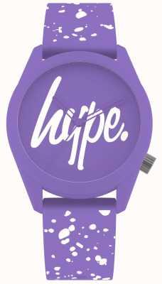 Hype | fioletowy i biały pasek z silikonu | fioletowy pokrętło | HYL001VW