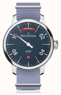 MeisterSinger Data miejskiego dnia | zegarek z dwoma paskami | URDD908
