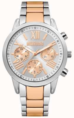 Missguided | zegarek damski | dwukolorowa bransoleta ze stali nierdzewnej | MG008SRM