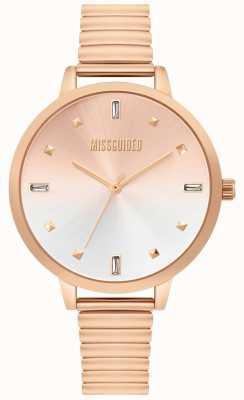 Missguided | damski zegarek z różowego złota | MG012RGM