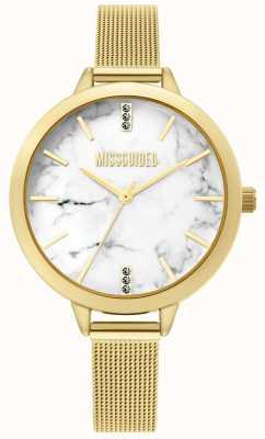 Missguided | zegarek damski z siatki złotej | MG011GM