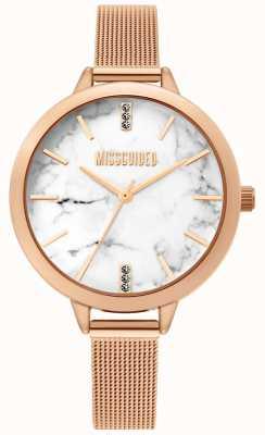 Missguided | damski zegarek z różowego złota | MG011RGM