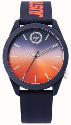 Hype | mężczyzna niebieski silikonowy zegarek | dwie tony wybierania | HYU020UO