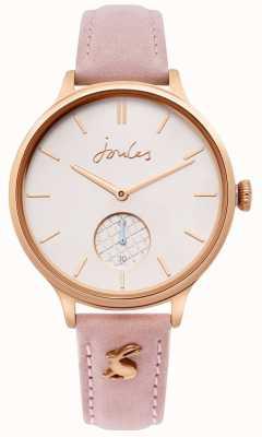 Joules | panie różowy skórzany pasek | różowe złoto | JSL014PRG