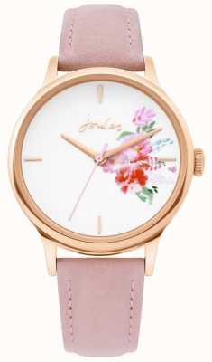 Joules | zegarek damski | skórzany pasek w kolorze nude | koperta z różowego złota | JSL017PRG