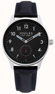 Joules | zegarek do brony męskiej | czarny skórzany pasek | JSG008B