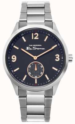 Ben Sherman | męski zegarek ze stali nierdzewnej | niebieska tarcza | BS020SM