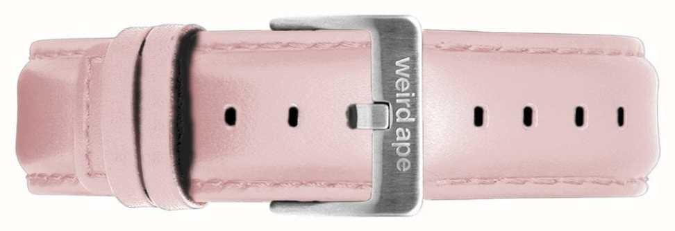 Weird Ape | 16 mm pastelowy różowy skórzany pasek tylko srebrna stalowa klamra ST01-000053