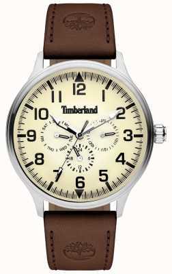 Timberland | mężczyzna blanchard | brązowy skórzany pasek | kremowa tarcza | 15270JS/14