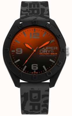 Superdry | osaka | moro szary pasek silikonowy | blackorange dial | SYG242E