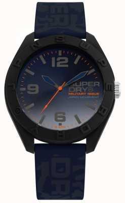 Superdry | osaka | pasek silikonowy niebieski moro | niebieska tarcza | SYG242U